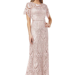 Lace Chevroned Mothers Gown Wedding Size 8